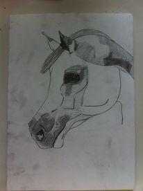 Araber, Pferde, Skizze, Portrait