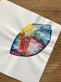 Bunt, Aquarellmalerei, Abstrakt, Farben