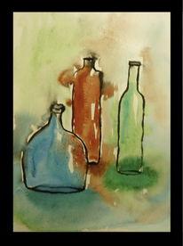 Bunt, Glas, Glasflaschen, Flasche