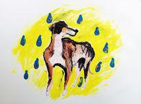 Malerei, Greyhound