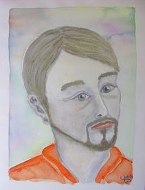 Aquarellmalerei, Portrait, Aquarell,
