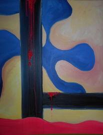 Wabbel, Pink slime, Malerei, Pink