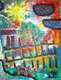 Baum, Bunt, Abstrakt, Skulptur