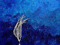 Ölmalerei, La mer, Blau, Malerei
