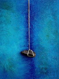 Peloponnes, Blau, Malerei,