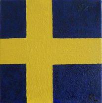 Kreuz, Blau, Schweden, Quarzsand