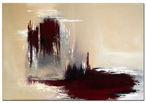 Blutend, Acrylmalerei, Erde, Wandbild