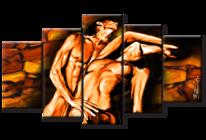 Akt, Erotik, Abstrakt, Kunstdruck