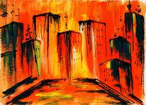 Wandbild, Kunstdruck, Abstrakt, Malerei