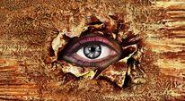 Kunstdruck, Malerei, Wimpern, Augen