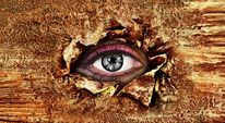 Augen, Abstrakt, Kunstdruck, Malerei