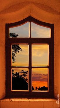 Landschaft, Malerei, Sonnenuntergang, Natur