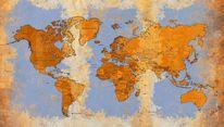 Meer, Weltkarte, Atlantik, Globus