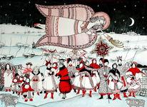 Ukraine, Weihnachten, Frau, Engel