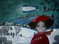 Winterzauber, Malerei, Angel