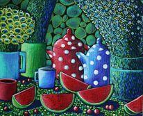 Teekannne, Obst, Tee, Punkt