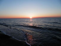 Strand, Dars, Ostsee, Sonnuntergang