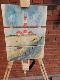 Landschaft, Nordsee, Meer, Strand