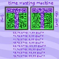 Time wasting machine, Ios, Digital, App art