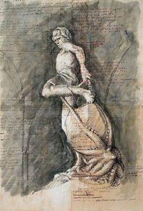 Skulptur, Anatomie, Illustrationen, Architektur mensch