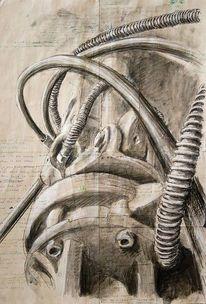 Technik, Illustrationen, Architektur mensch