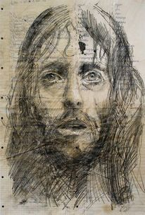 Portrait, Jesus, Illustrationen, Architektur mensch