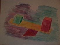 Viereck, Aquarellmalerei, Gleichgewicht, Dreieck