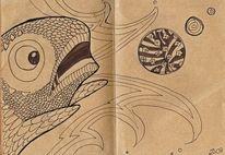 Tiere, Niedlich, Ball, Skizze
