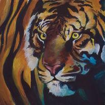 Fell, Tiere, Tiger, Wildkatze