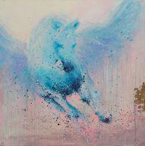 Pegasus, Gold, Pferde, Malerei