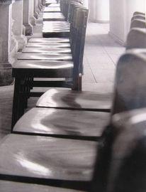 Stuhl, Stillleben, Schwarzweiß, Fotografie