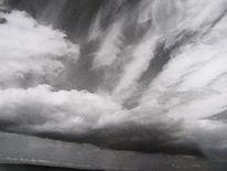 Wolken, Weite, Schwarzweiß, Himmel