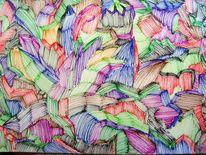 Farben, Abstrakt, Fantasie, Formen