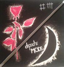 Mond, Naive malerei, Abstrakt, Depeche mode