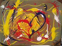 Licht, Rot, Acrylmalerei, Explosion