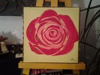Blumen, Rose, Malerei, Natur