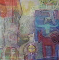 Mischtechnik, 2011, Malerei, Acrylmalerei