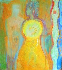 Mischtechnik, Acrylmalerei, Juni, Malerei