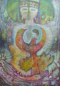 2013, Mischtechnik, Malerei, Acrylmalerei