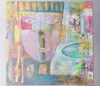 Fisch, Collage, Erde, Blick