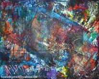 Mischtechnik, Modern, Pinsel, Malerei