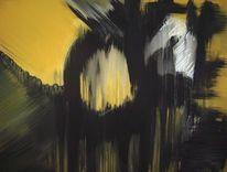 Modern, Abstrakt, Zwielicht, Acrylmalerei