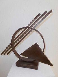 Stahl, Rost, Skulptur, Plastik