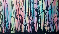 Abstrakt, Wasserfarben, Aquarell,