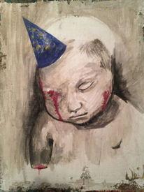 Menschen, Blut, Malerei,