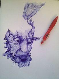 Gesicht, Zeichnung, Hand, Menschen