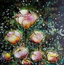 Rose, Acrylmalerei, Blumen, Malerei