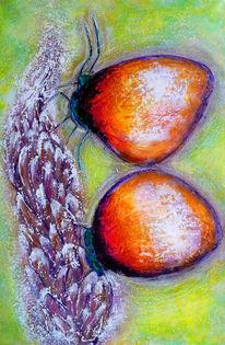 Acrylmalerei, Schmetterling, Winter, Malerei