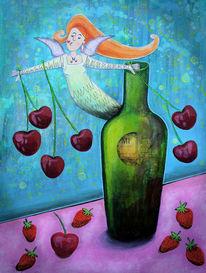 Erdbeeren, Frühling, Kirsche, Angels