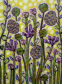 Blumen, Blüte, Frühling, Malerei